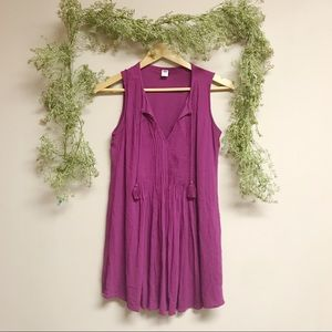 Purple tank top old navy dress